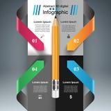 Biznesowy Infographics Pióro ikona Obraz Royalty Free