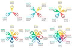 Biznesowy Infographics Promieniowe mapy, diagramy Zdjęcia Stock