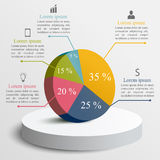 Biznesowy infographics szablon Obrazy Royalty Free