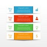 Biznesowy infographics sztandar Obrazy Stock