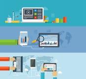 Biznesowy infographics używać nowożytny cyfrowi przyrząda ilustracja wektor