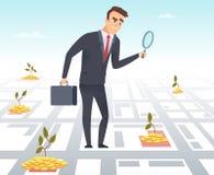 Biznesowy inwestor E ilustracja wektor