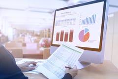 Biznesowy inwestorski ryzyko i pożyczki analiza Fotografia Stock