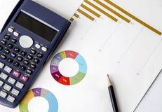biznesowy kalkulatora desktop dzienniczka pióro Obrazy Stock