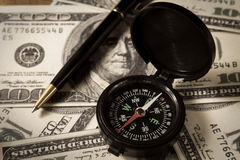 Biznesowy kierunek dla pieniądze. Obraz Stock