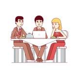 Biznesowy klienta spotkanie przy restauracja stołem royalty ilustracja