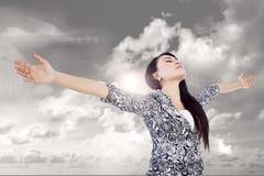 Biznesowy kobiety mistrza pojęcie plenerowy zdjęcie royalty free
