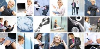Biznesowy kolaż wizerunki z ludźmi Fotografia Stock