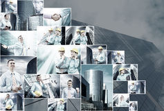 biznesowy kolaż Obrazy Stock