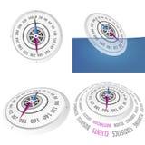 Biznesowy kompasu set Obrazy Royalty Free