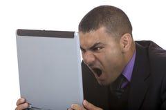 biznesowy komputer mężczyzna stres Fotografia Stock