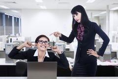 Biznesowy konflikt Zdjęcie Stock