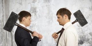 Biznesowy konfliktu pojęcie Obraz Stock