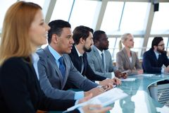 Biznesowy konwersatorium obrazy stock