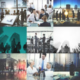 Biznesowy Korporacyjny Drużynowy współpracy sukcesu początku pojęcie obrazy stock