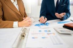 Biznesowy Korporacyjny dru?ynowy brainstorming, Planistyczna strategia ma dyskusji analizy inwestycj? bada z map? przy biurem fotografia royalty free