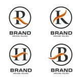 Biznesowy korporacyjny listowy swoosh loga projekta szablon royalty ilustracja