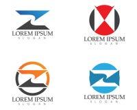 Biznesowy korporacyjny listu Z loga projekta wektor ilustracja wektor