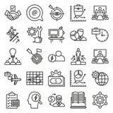 Biznesowy Kreskowy wektor Odizolowywająca pojęcie ikona może łatwo redagować i Modyfikująca ilustracji
