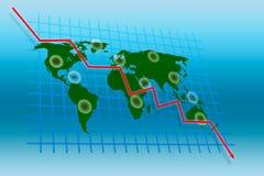 biznesowy kryzysu rynku świat ilustracji