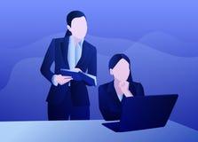 Biznesowy laptopu womankind royalty ilustracja