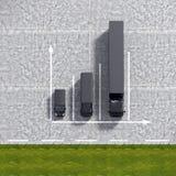 Biznesowy Logistycznie transportu czerni usługa wykresów illustrati Obraz Royalty Free