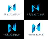 Biznesowy logo Listowy N Zdjęcia Stock