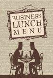 Biznesowy lunch ilustracja wektor