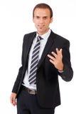 Biznesowy mężczyzna daje prezentaci Zdjęcia Royalty Free