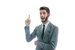 Biznesowy mężczyzna dostaje dobrego pomysł Fotografia Stock