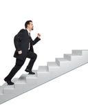 Biznesowy mężczyzna i schodki Obraz Stock