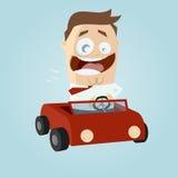 Biznesowy mężczyzna jedzie samochód Obrazy Royalty Free