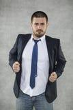 Biznesowy mężczyzna jest bohaterem obraz stock