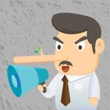 Biznesowy mężczyzna - kłamstwo ilustracji
