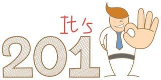 Biznesowy mężczyzna mówi ok rok 2013 Obraz Royalty Free