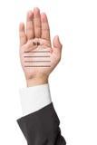 Biznesowy mężczyzna pisze Robić liście na ręce Obrazy Royalty Free
