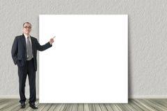 Biznesowy mężczyzna przedstawia fotografia stock
