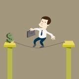 Biznesowy mężczyzna ryzykować dla pieniądze royalty ilustracja
