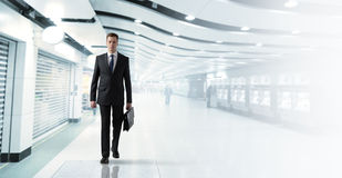 Biznesowy mężczyzna w metrze Zdjęcie Royalty Free