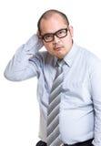 Biznesowy mężczyzna wprawiać w zakłopotanie Obraz Royalty Free