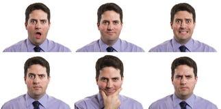 Biznesowy mężczyzna złożony Obraz Royalty Free