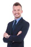 Biznesowy mężczyzna z fałdowymi rękami Obraz Royalty Free