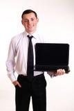 Biznesowy mężczyzna z notatnikiem zdjęcia royalty free