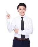 Biznesowy mężczyzna z palcowym punktem up Obrazy Stock