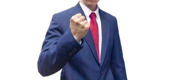 Biznesowy mężczyzna z siłą i celem Zdjęcia Royalty Free