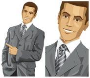 Biznesowy mężczyzna Z Wskazywać palec ilustracja wektor