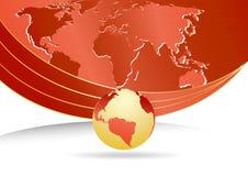 biznesowy mapy szablonu wektoru świat ilustracja wektor