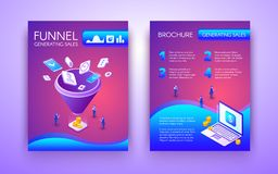 Biznesowy marketingowy ulotki lub plakata wektoru układ royalty ilustracja