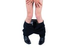 Biznesowy mężczyzna dyszy puszek Zdjęcia Royalty Free