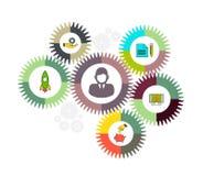 Biznesowy mechanizmu pojęcie abstrakcyjny tło Wektorowa infographic ilustracja Zdjęcie Royalty Free